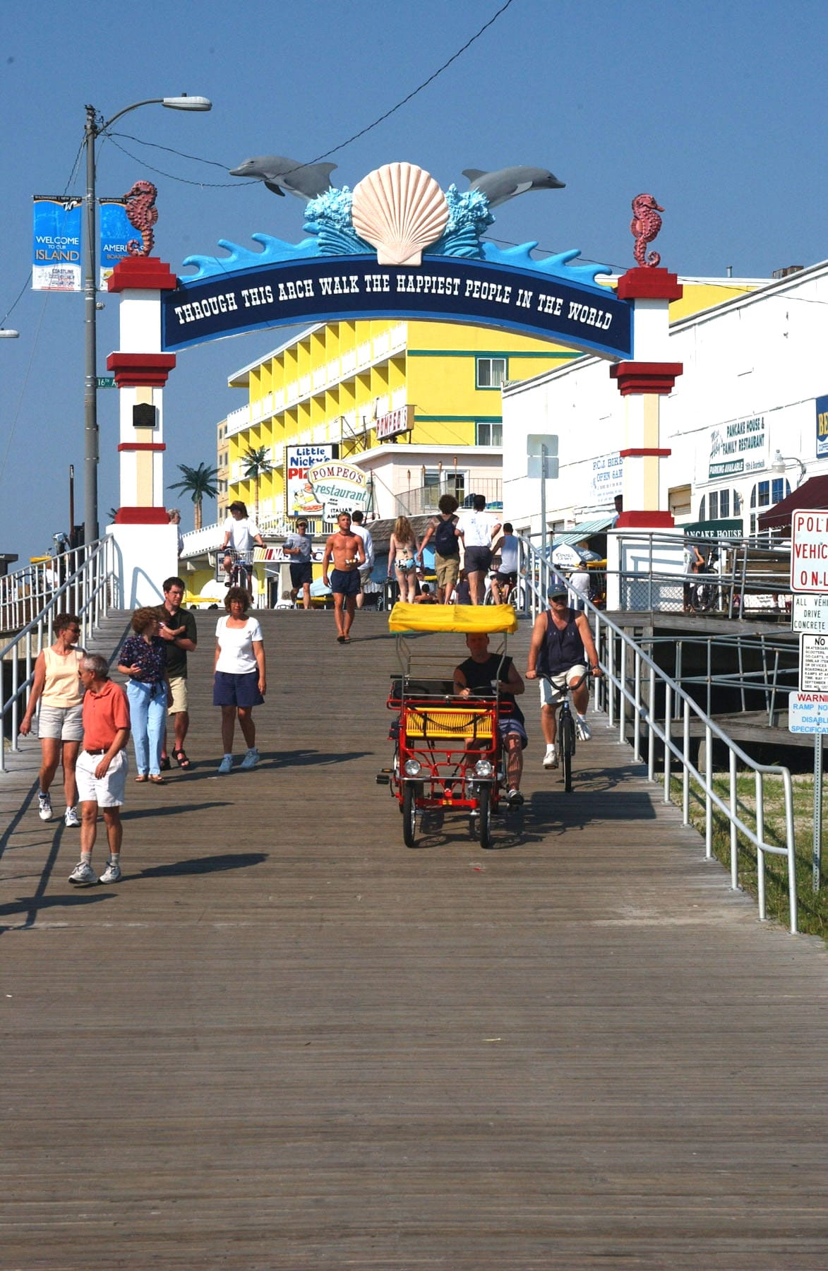 Wildwood, nj boardwalk web cam selfie